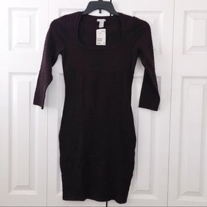 H&M Ribbed Fitted Knot Dress S